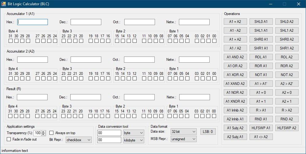 GUI-Entwurf von Bit Logic Calculator