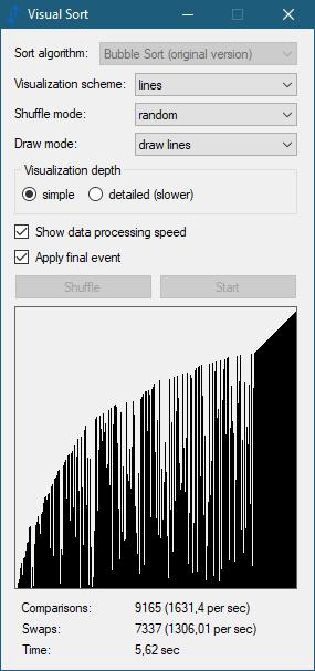 Visual Sort 0.5.1.10 (Screenshot)