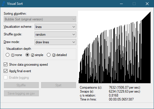 Visual Sort 0.9.0.14 (Screenshot)