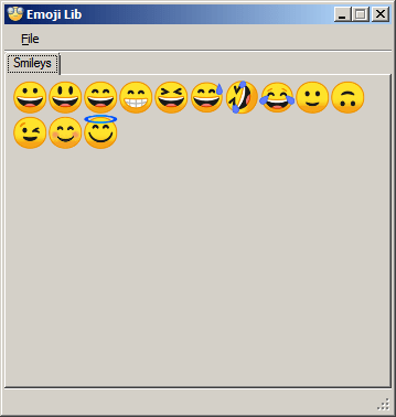 Emoji Lib 0.1.0.2 (Screenshot)