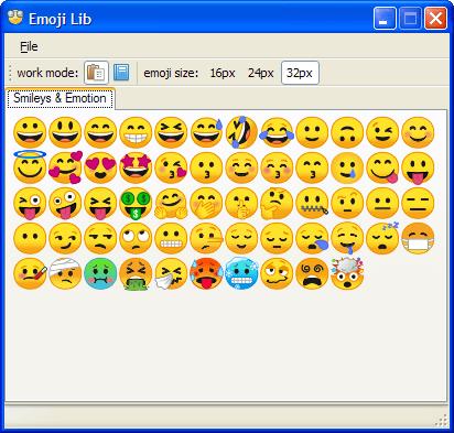 Emoji Lib 0.3.2.8 (Screenshot)