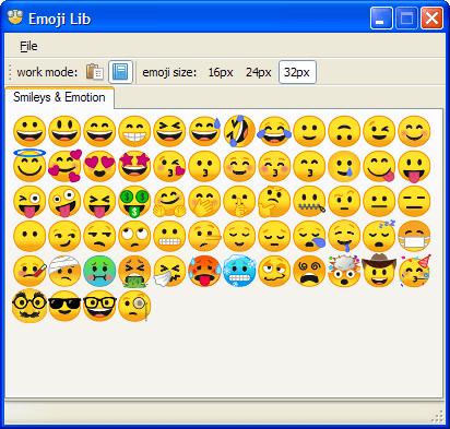 Emoji Lib 0.3.3.9 (Screenshot)