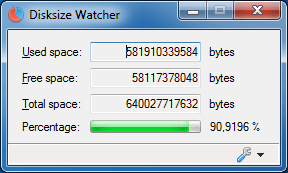Disksize Watcher 0.1.0.3 (Screenshot)