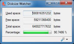 Disksize Watcher 0.2.0.4 (Screenshot)
