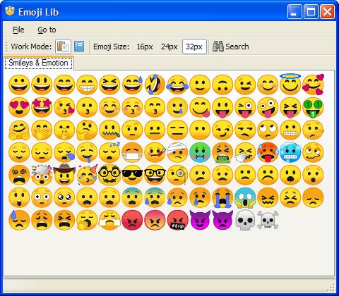 Emoji Lib 0.4.1.11 (Screenshot)