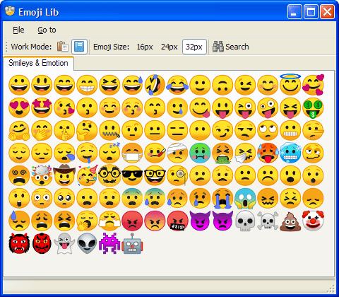 Emoji Lib 0.5.1.13 (Screenshot)